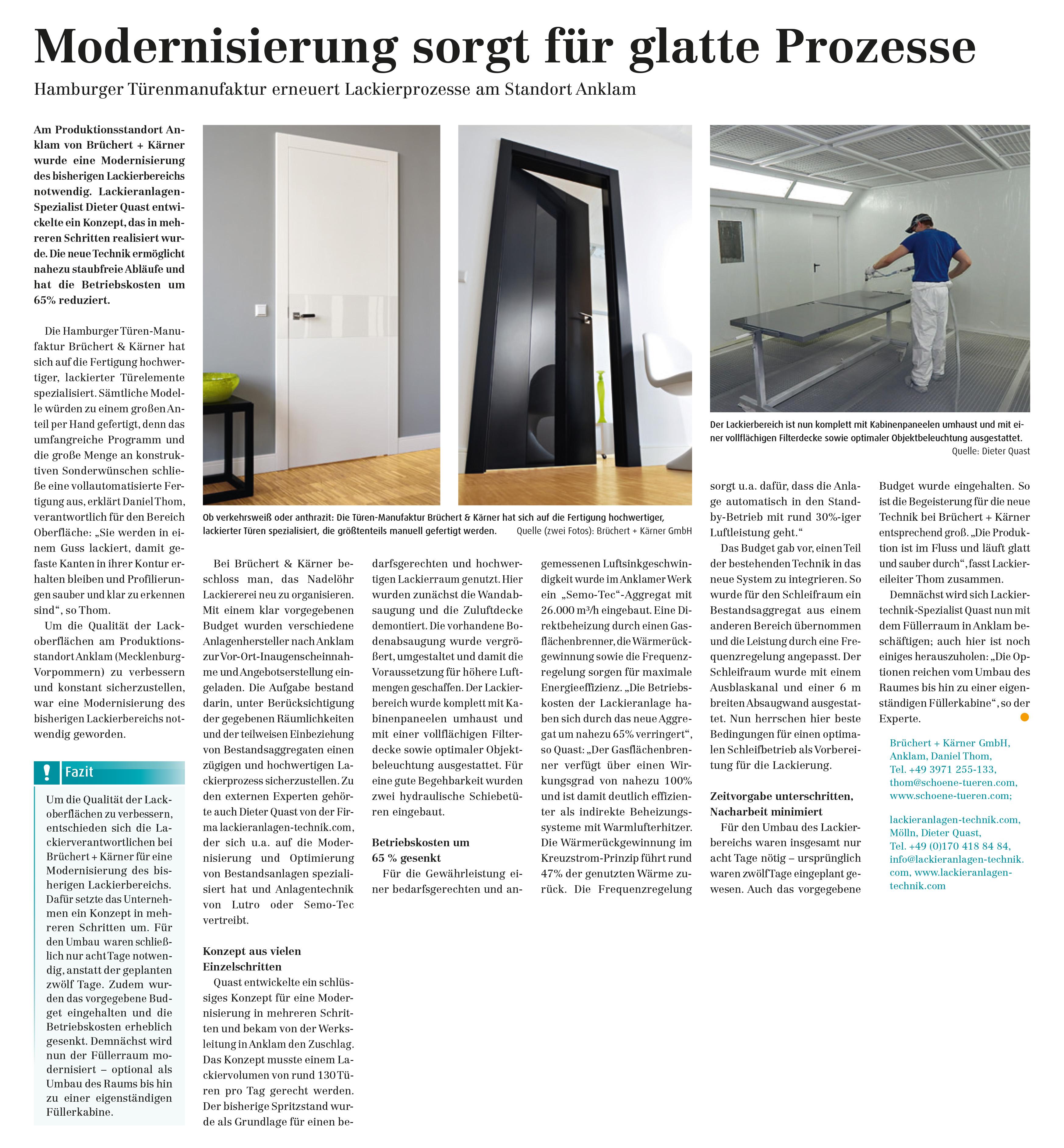 """besser lackieren: """"Modernisierung sorgt für glatte Prozesse"""""""