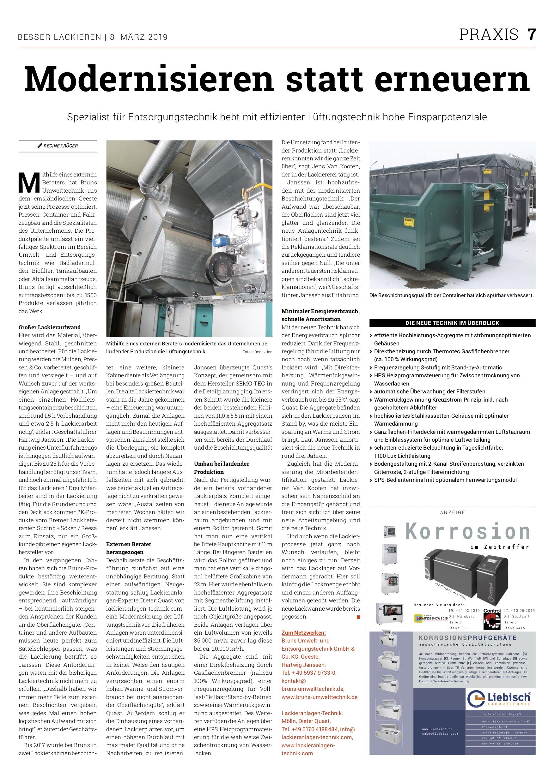 BRUNS Umwelttechnik: 0 % Lackreklamationen und halbierte Energiekosten nach Modernisierung der Lackiererei.